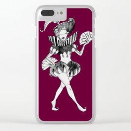 Fancy Jester Clear iPhone Case