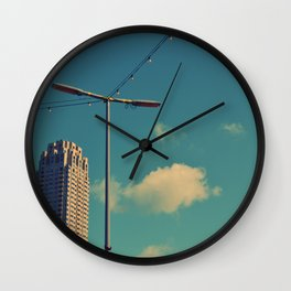 Roof View Wall Clock