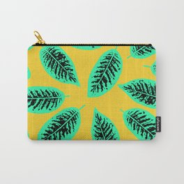 Dieffenbachia tropical leaf pattern Carry-All Pouch