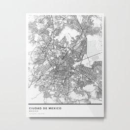 Ciudad de Mexico Simple Map Metal Print