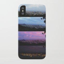 New York Skyline Portrait Time Frames iPhone Case