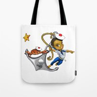 marine Tote Bags featuring Marine by Andre auguste-charlery