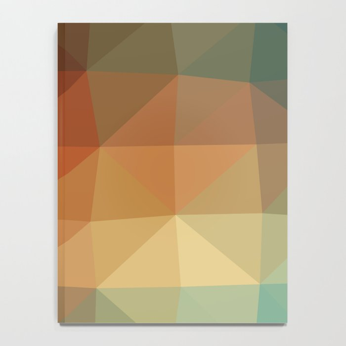 Shades Of Green And Brown Triangle Abstract Notebook