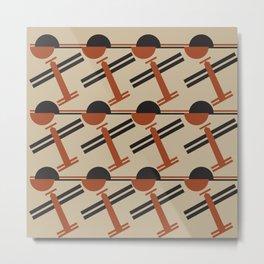 soviet pattern - constructivism Metal Print