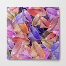 Placer precious stones gems . Metal Print