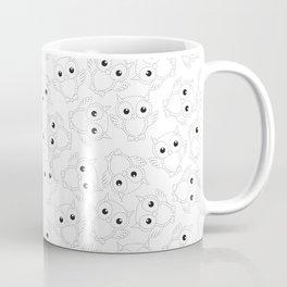 Night Owl in Strokes Pattern Coffee Mug