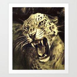 Panthera Pardus Carboneum Art Print