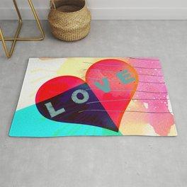 Valentines day, heart, LOVE Rug
