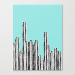 Watercolor of cacti XVII Canvas Print