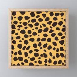 Cheetah Pattern_A Framed Mini Art Print