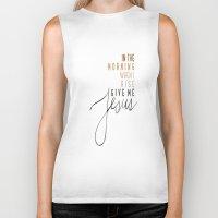 jesus Biker Tanks featuring Jesus by I Love Decor