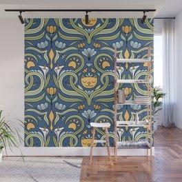 Cat Nouveau Wall Mural
