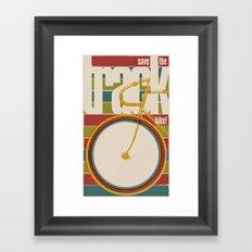 Save The Track Bikes! 02 Framed Art Print