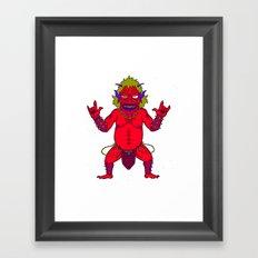 Fat Demon Framed Art Print
