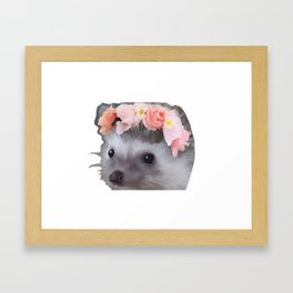 The loveliest hedgehog Framed Art Print