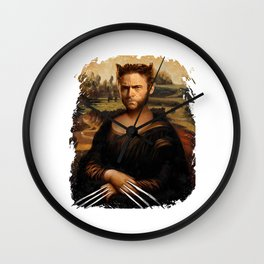 Hugh Jackman Mona Lisa Face Swap Wall Clock
