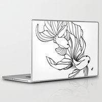 foo fighters Laptop & iPad Skins featuring Dance of the Fighters by Heidi Denney