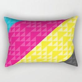 CMYK Patchwork Rectangular Pillow