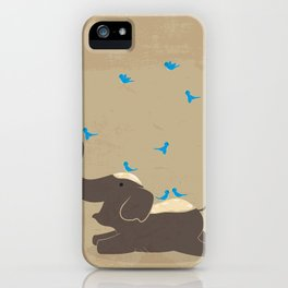 Chang Siam-- Happy Elephant iPhone Case