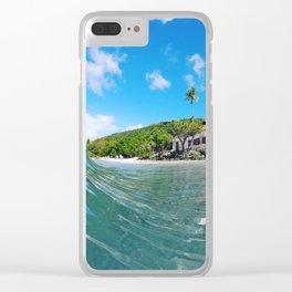 Sunny Moment Cinnamon Bay St. John USVI Pre Irma Clear iPhone Case