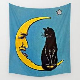 Black Cat & Moon Wall Tapestry