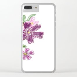 Sommer Rosen Clear iPhone Case
