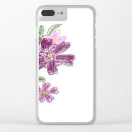 Sommer Rosen Clear iPhone Case