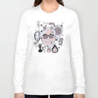 miyazaki Long Sleeve T-shirts featuring Miyazaki Tribute by DarkChoocoolat