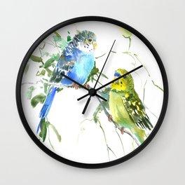 Parakeets, budgies pet bird home decor Wall Clock