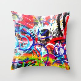 Crazy Graffiti  Throw Pillow