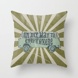 On My Way To Everywhere Throw Pillow