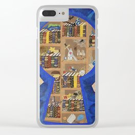 My Dream Library Clear iPhone Case