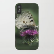 Butterfly on Thistle Flower iPhone X Slim Case