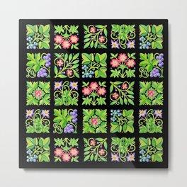 Tudor Flower Parterre Metal Print