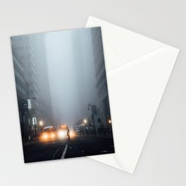 Morning Fog on Broadway Stationery Cards