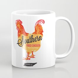 Southern Fried Chicken Screen Print Nashville, Tennessee Coffee Mug