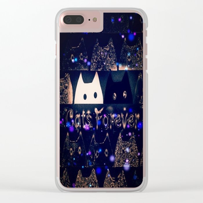 cats-62 Clear iPhone Case