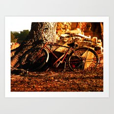 the afternoon bicycle.  Art Print
