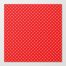 Domino Dots red and white Canvas Print