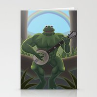 muppet Stationery Cards featuring A Very Manly Muppet by Crystal Kan