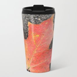 Water color of a sugar maple leaf Travel Mug
