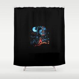 Neon Fantasy FF7 Shower Curtain