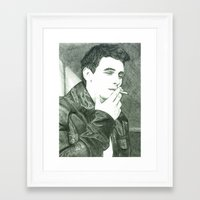 james franco Framed Art Prints featuring Mr Franco by Troy Salmon Art