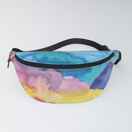 Rainbow Mountains Fanny Pack