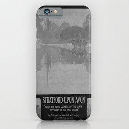 retro classic GWR Stratford Upon Avon poster iPhone Case
