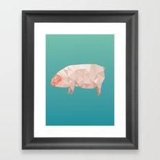 Geometric Pig Framed Art Print