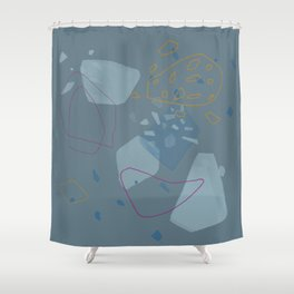 Slate Gray Minimalist Abstract Shower Curtain