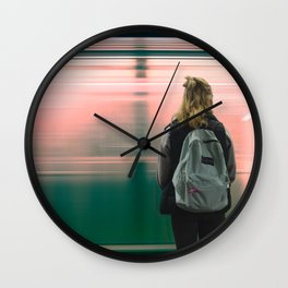 Subway Day Dreams Wall Clock
