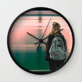 Subway Day Dreams Wall Clock