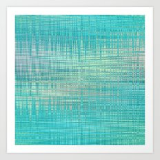 Abstract Blue Pastel Art Print